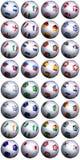 Tazza di mondo dell'S-Africa delle sfere di calcio illustrazione di stock