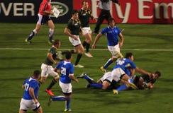 Tazza di mondo di rugby Sudafrica 2011 contro il Namibia Fotografia Stock