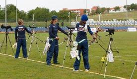 Tazza di mondo di tiro all'arco, 4 maggio 2010 in Porec, Croatia Fotografie Stock