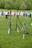 Tazza di mondo di tiro all'arco, 4 maggio 2010 in Porec, Croatia Immagini Stock