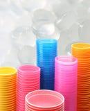 Tazza di plastica fotografia stock