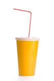 Tazza di plastica arancione Immagini Stock Libere da Diritti