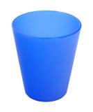 Tazza di plastica blu Immagine Stock