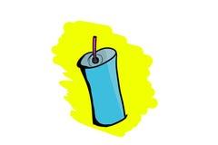 Tazza di plastica con paglia Fotografia Stock Libera da Diritti