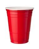 Tazza di plastica rossa Immagini Stock