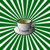 Tazza di Pop art del tè illustrazione vettoriale