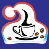 tazza di Santa di logo della bevanda calda Fotografie Stock Libere da Diritti