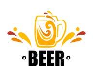 Tazza di simbolo uno di birra Fotografie Stock Libere da Diritti