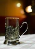 Tazza di stile dell'annata in tazza-supporto Fotografia Stock