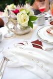 Tazza di tè ad un ricevimento pomeridiano Fotografie Stock Libere da Diritti