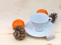 Tazza di tè bianca Fotografia Stock