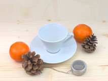 Tazza di tè bianca Fotografie Stock Libere da Diritti