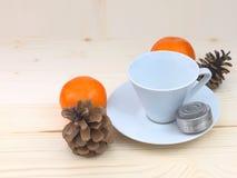 Tazza di tè bianca Fotografie Stock