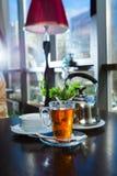 Tazza di tè calda Fotografie Stock