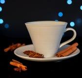 Tazza di tè con cannella ed anice Immagini Stock