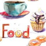 Tazza di tè con i panini illustrazione di stock