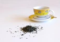 Tazza di tè con il cucchiaio Fotografie Stock