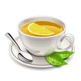Tazza di tè con il limone Fotografie Stock Libere da Diritti