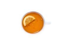 Tazza di tè con il limone sulla cima Immagine Stock