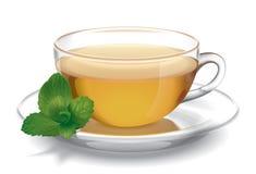 Tazza di tè con la menta Fotografie Stock
