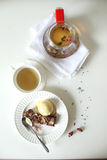Tazza di tè con la teiera Fotografia Stock Libera da Diritti