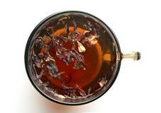 Tazza di tè con le foglie di tè Fotografia Stock