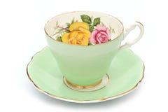 Tazza di tè d'annata Immagini Stock Libere da Diritti