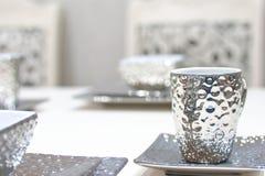 Tazza di tè d'argento Fotografia Stock Libera da Diritti