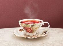 Tazza di tè della porcellana con il percorso di ritaglio Fotografia Stock