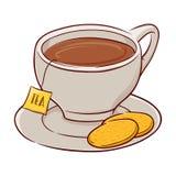 Tazza di tè e dei biscotti royalty illustrazione gratis