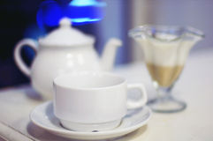 Tazza di tè e del dolce Immagine Stock