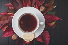 Tazza di tè e del limone Fotografie Stock