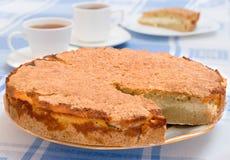 Tazza di tè e della torta Immagini Stock Libere da Diritti