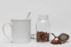 Tazza di tè e infuser fotografia stock libera da diritti