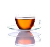 Tazza di tè isolata su fondo bianco Fotografia Stock Libera da Diritti