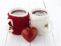 Tazza di tè per gli amanti Fotografie Stock Libere da Diritti