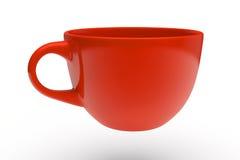 Tazza di tè rossa Immagini Stock