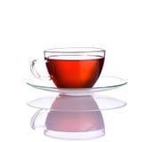 Tazza di tè rossa della frutta Fotografia Stock Libera da Diritti