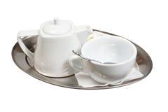 Tazza di tè su un piattino Fotografia Stock Libera da Diritti