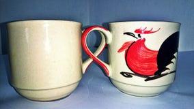 tazza di tè, tempo della rottura, pollo Fotografia Stock