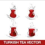 Tazza di tè turca Fotografia Stock