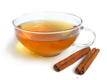 Tazza di tè verde Fotografie Stock