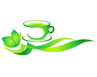 Tazza di tè verde Fotografia Stock Libera da Diritti