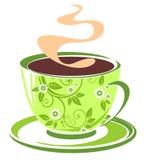 Tazza di tè verde Fotografie Stock Libere da Diritti