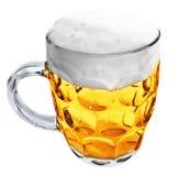 Tazza di vetro con birra isolata Immagine Stock Libera da Diritti