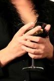 Tazza di vetro del Martini Immagini Stock Libere da Diritti