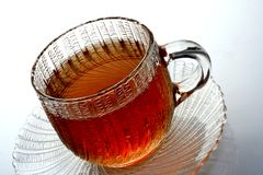 Tazza di vetro di tè Fotografie Stock Libere da Diritti