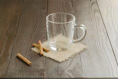 Tazza di vetro vuota Fotografia Stock