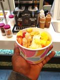 Tazza di yogurt fotografia stock