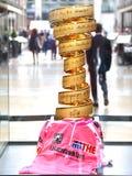 Tazza dorata del d'Italia di postagiro Immagine Stock Libera da Diritti